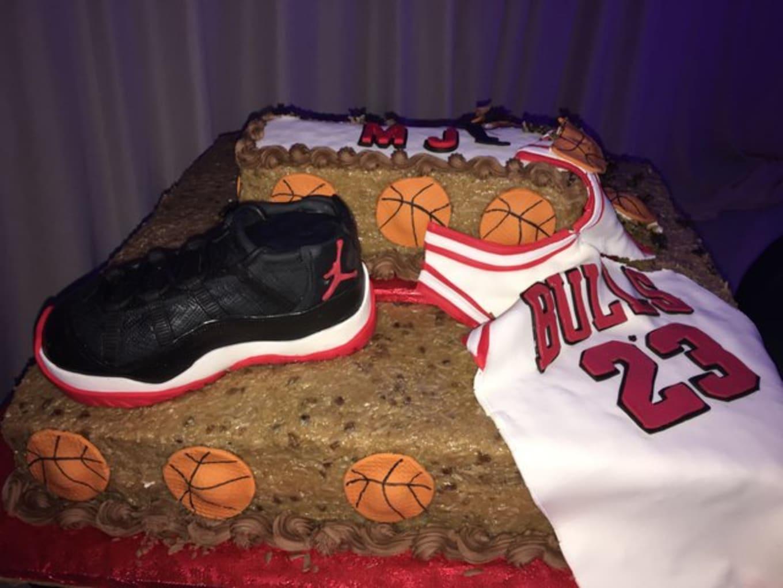 Fine Michael Jordan Air Jordan 11 Cake 54Th Birthday Sole Collector Funny Birthday Cards Online Elaedamsfinfo