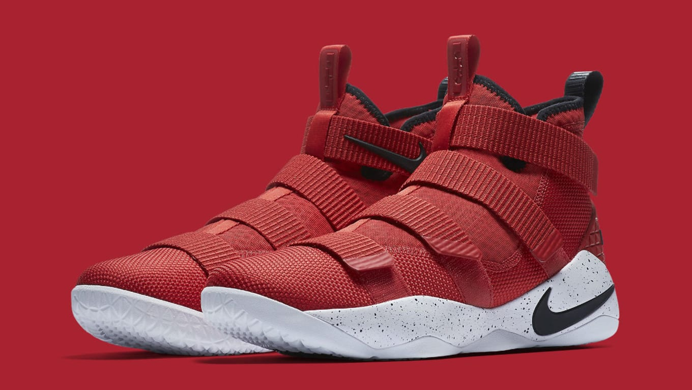 f714ba2f42af Nike LeBron Soldier 11 University Red Black-White-Total Crimson