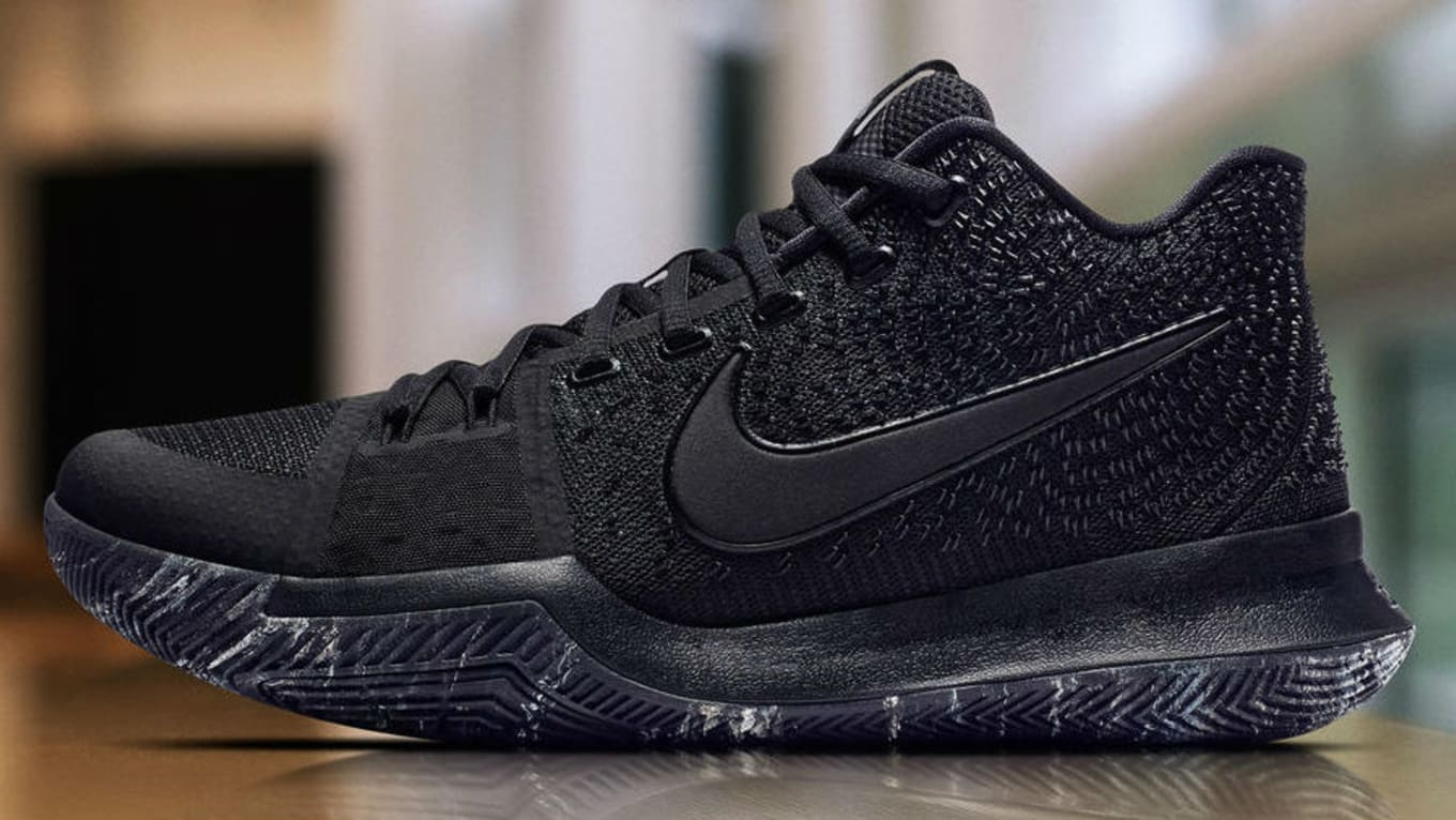 new styles b5c28 5c086 The Nike Kyrie 3 Gets a Marble Finish. Not quite  Triple Black.