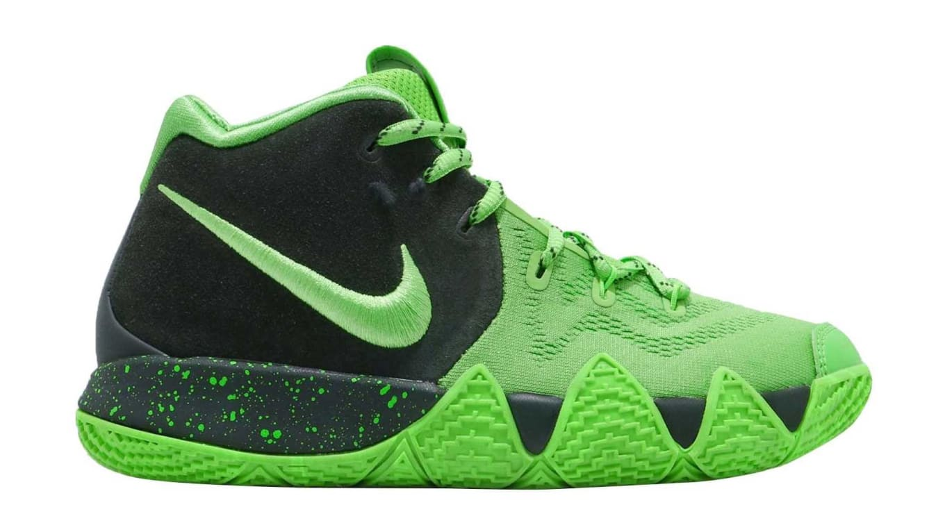 new concept 52df0 30ffe Nike Kyrie 4 GS Spinach Green Release Date AA2897-333 | Sole ...