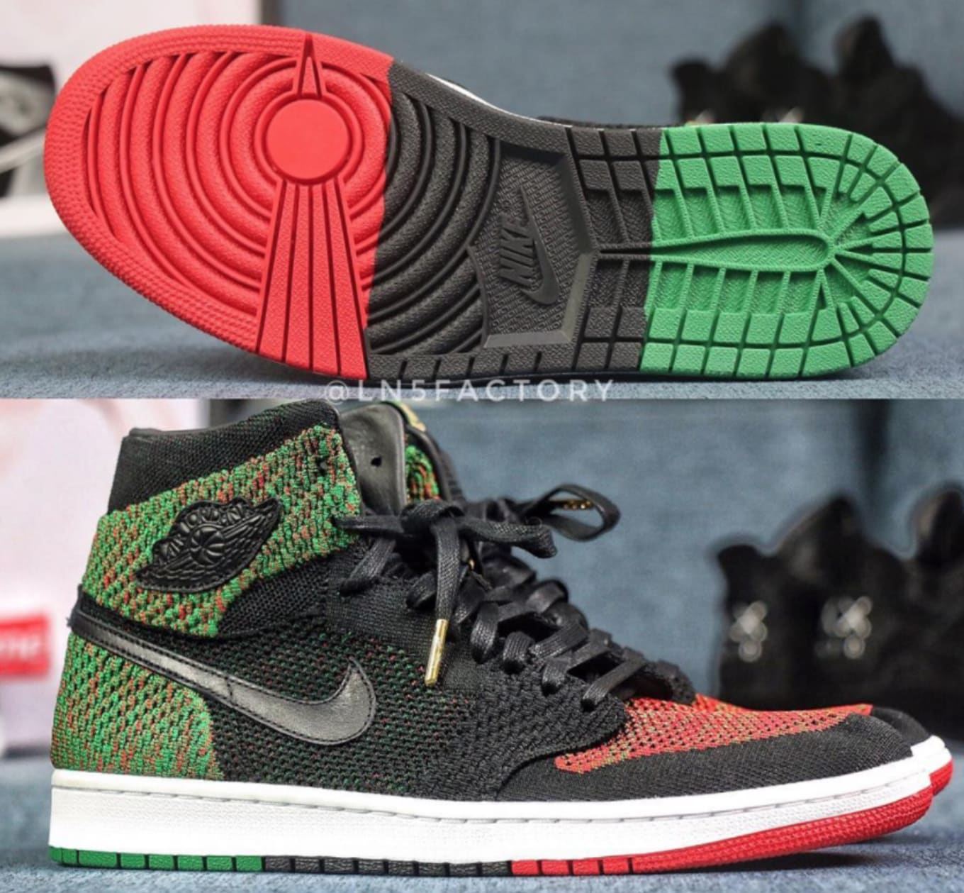 784049a21435 First look at the  BHM  Air Jordan 1 Flyknit.