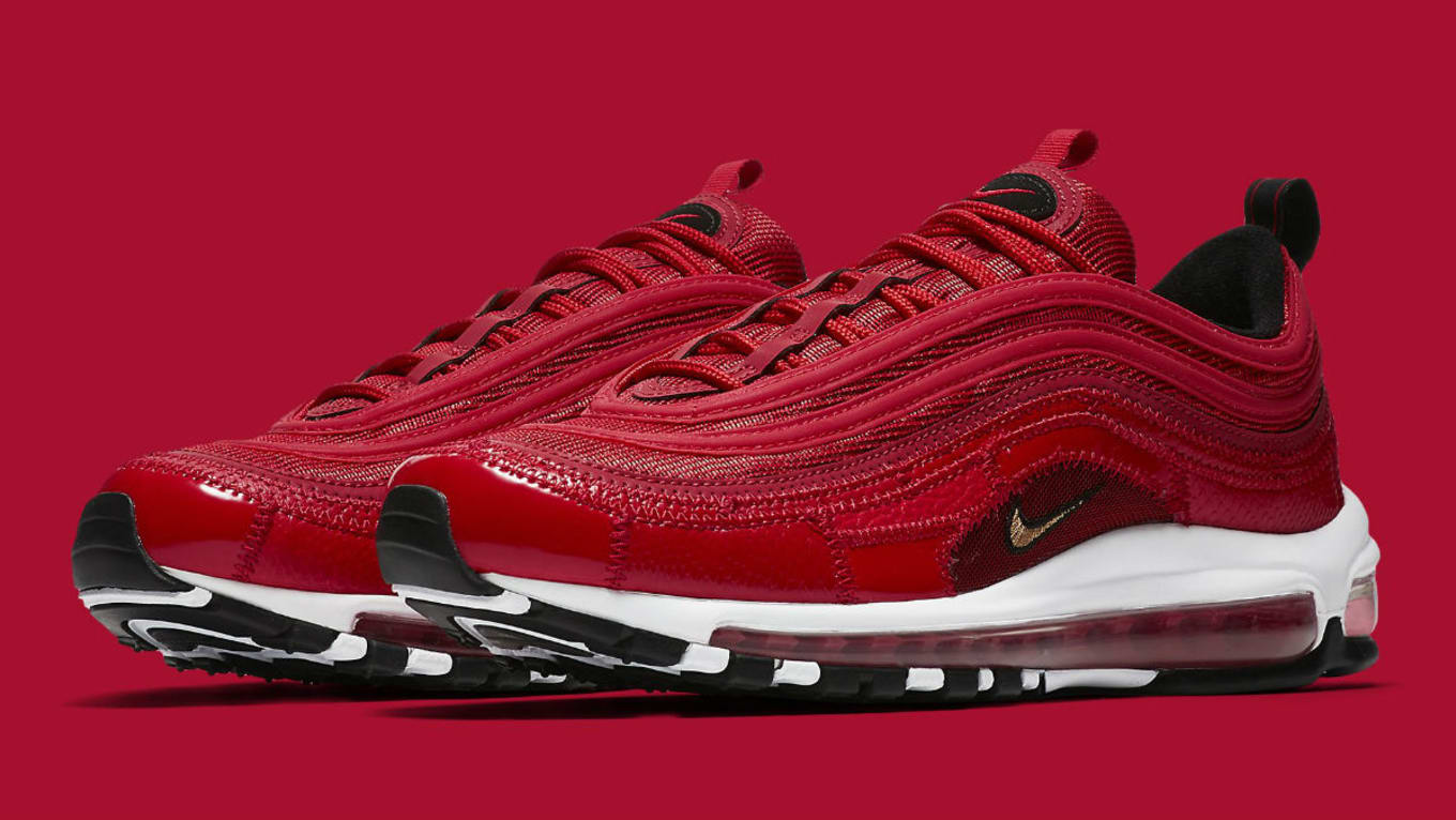 new style 9efe9 2c58d Nike Air Max 97 Patchwork CR7 Ronaldo Red Release Date AQ0655-600 ...