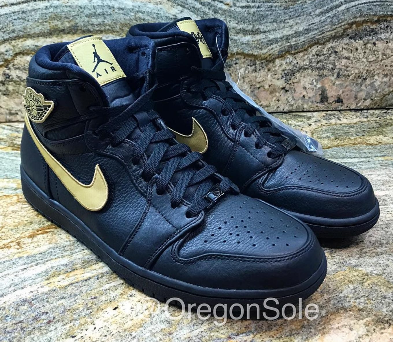 7049cfa316e1b6 Black and gold Jordan 1s releasing on Feb. 11.