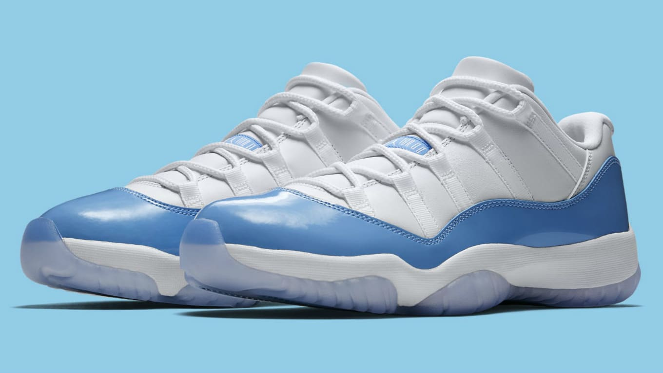 1f6e3196e28a Air Jordan 11 Low UNC University Blue Release Date 528895-106