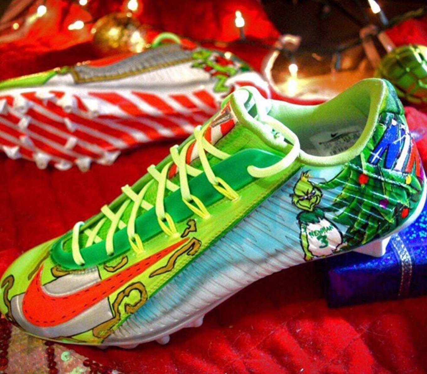 Odell Beckham Grinch Cleats | Sole Collector