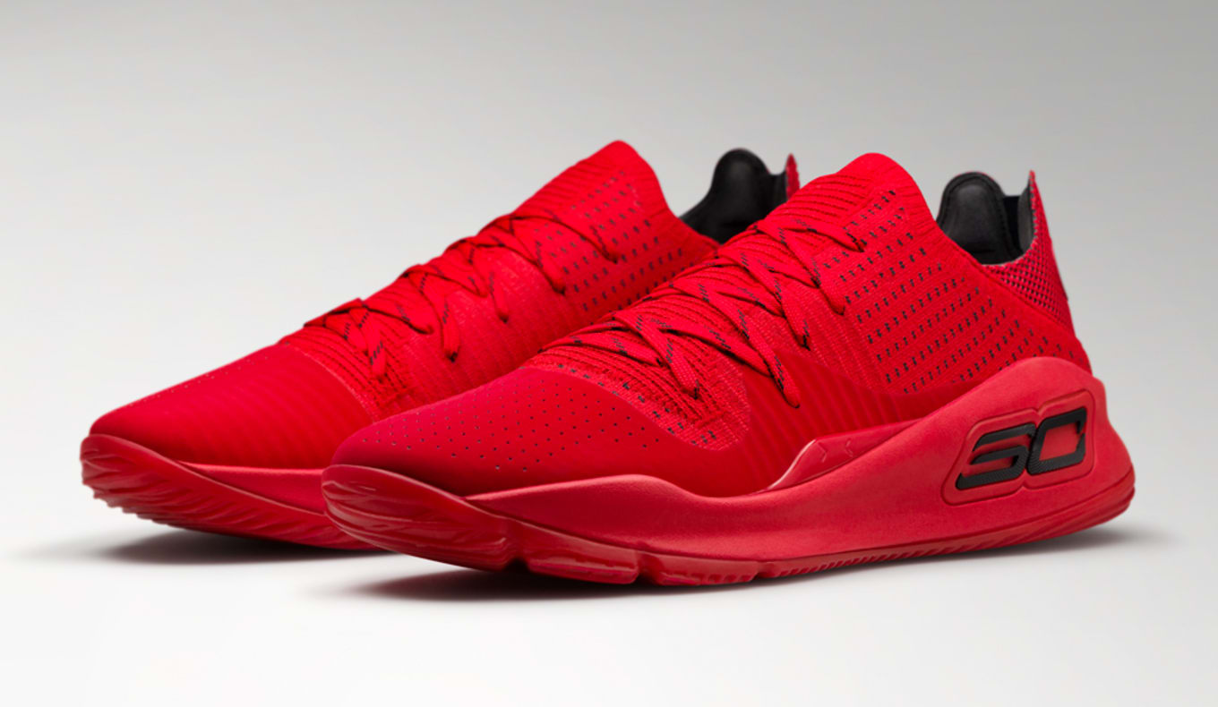 d4186eecee1b Under Armour Curry 4 Low Nothing But Nets Red Malaria