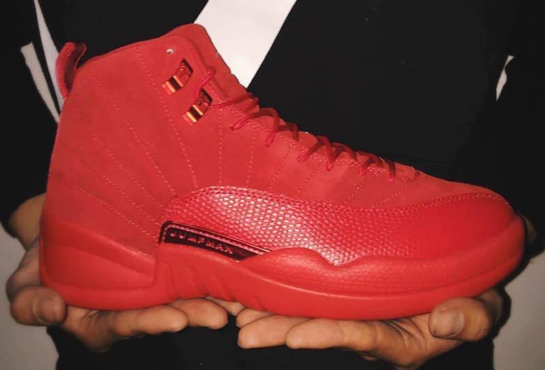 454e10b174e275 Air Jordan 12 Retro  Red Suede  Release Date