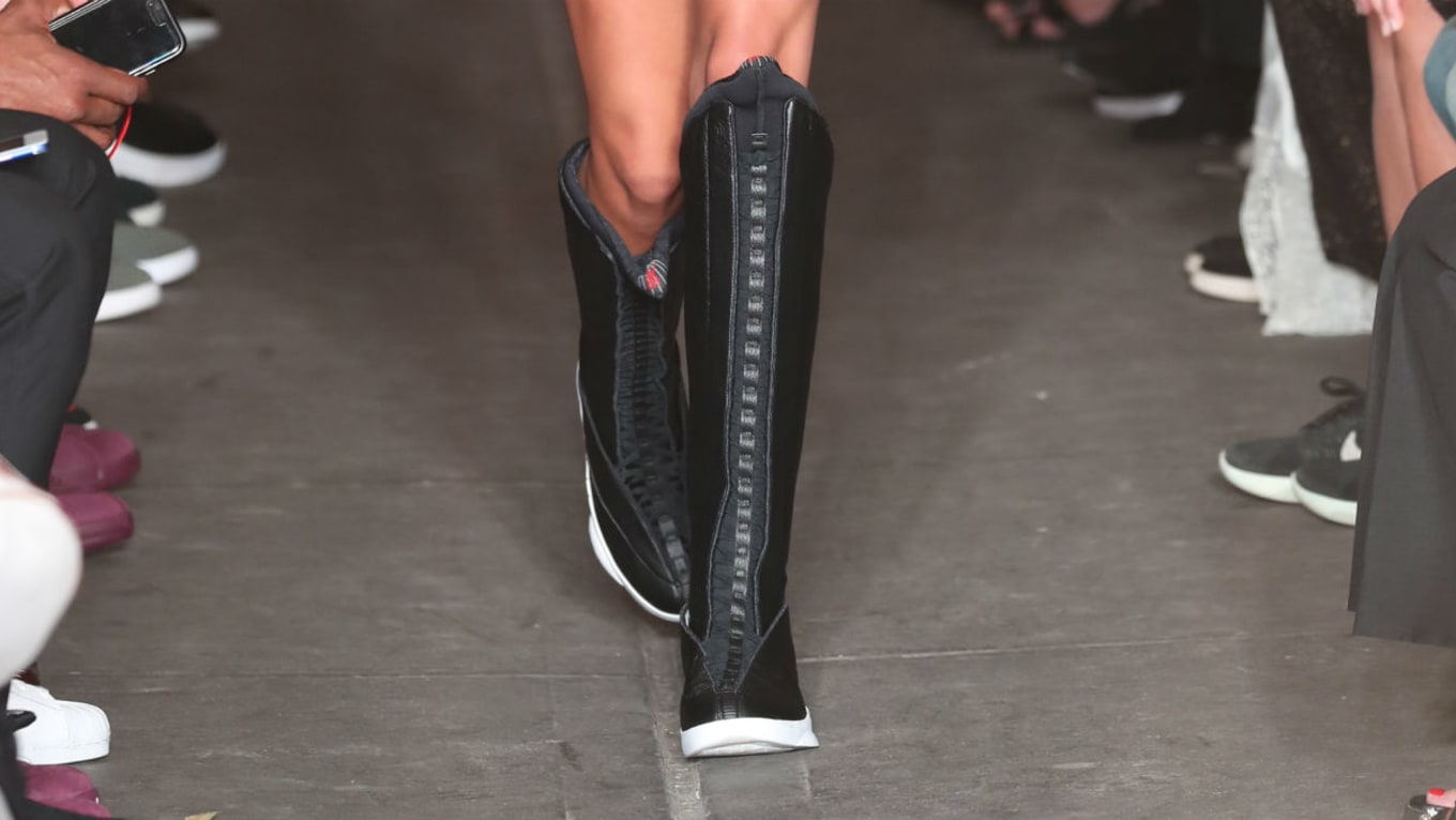 cb776c980d1bb1 Knee-High PSNY x Air Jordan 15 Boots Debut During NYFW