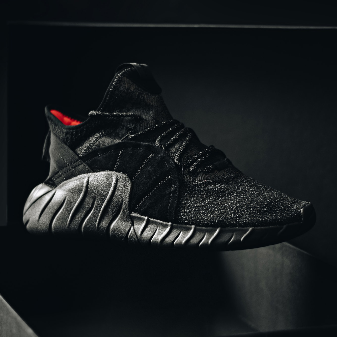 cheaper 4af56 e1b44 Adidas Originals Delivers the Tubular Rise in  Triple Black