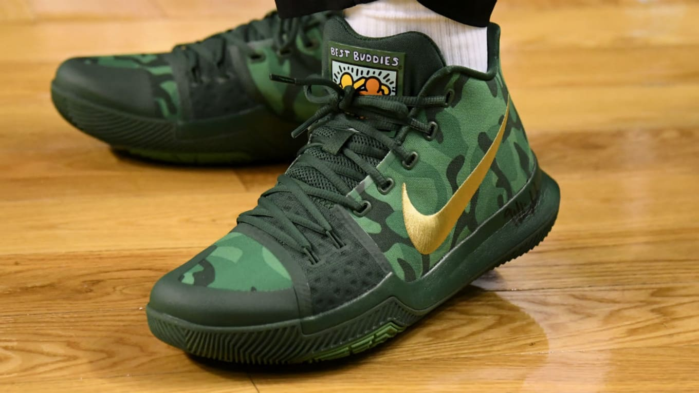 size 40 8bd11 09653 Kyrie Irving Nike Kyrie 3 Green Camo Best Buddies PE   Sole Collector