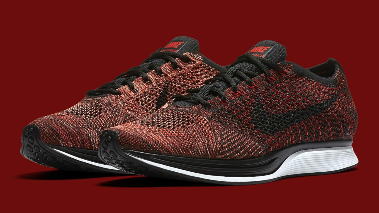 d7a2534900b8 Nike Flyknit Racer University Red Black Mango Release Date 526628 ...