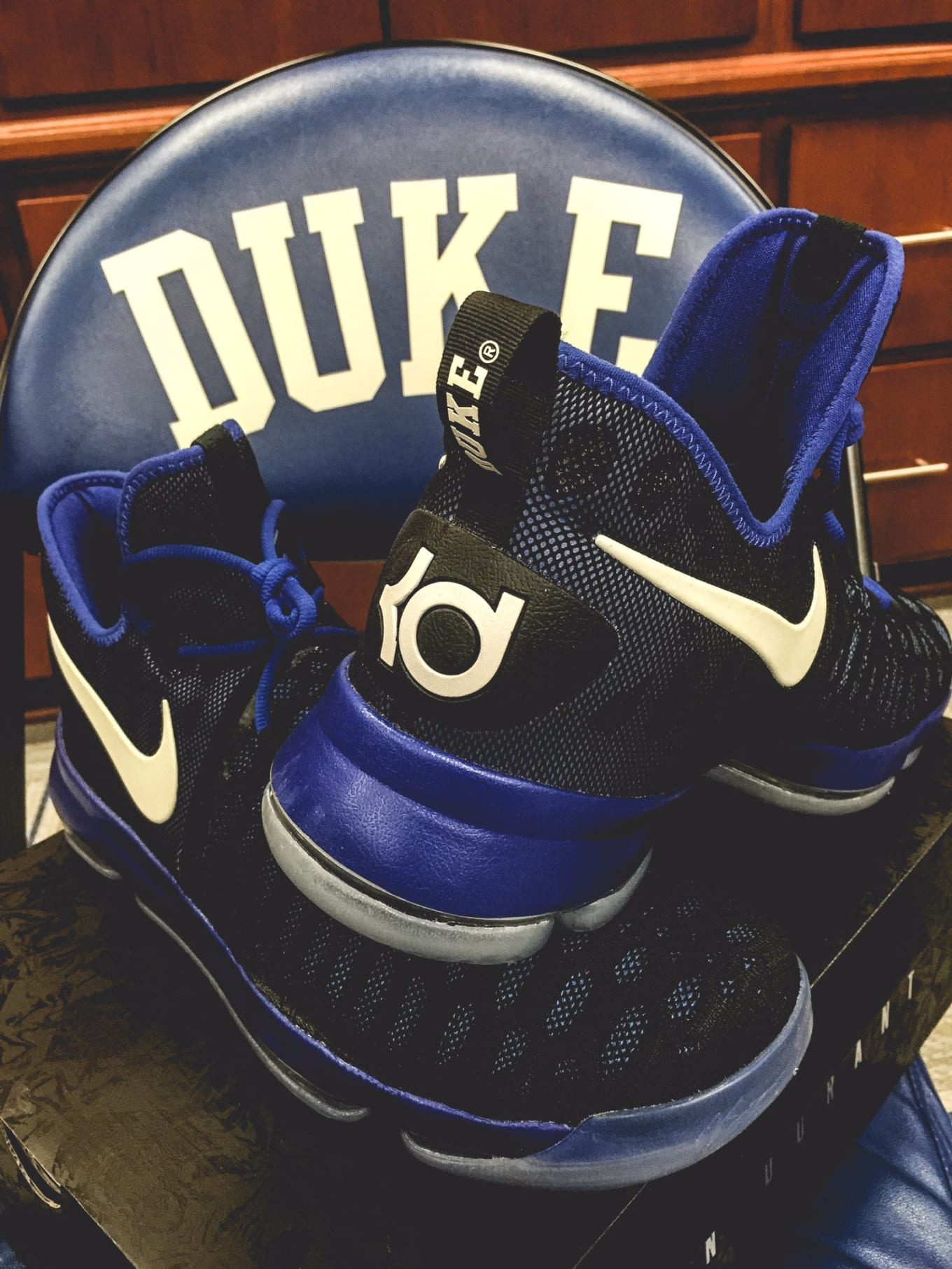 sports shoes dab19 3ec4d A first look at Duke s Nike KD 9 PE.