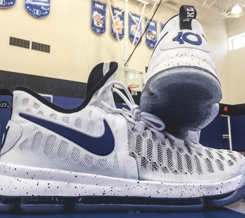super popular 61710 0e8a7 The Nike KD 9 in a Duke colorway.