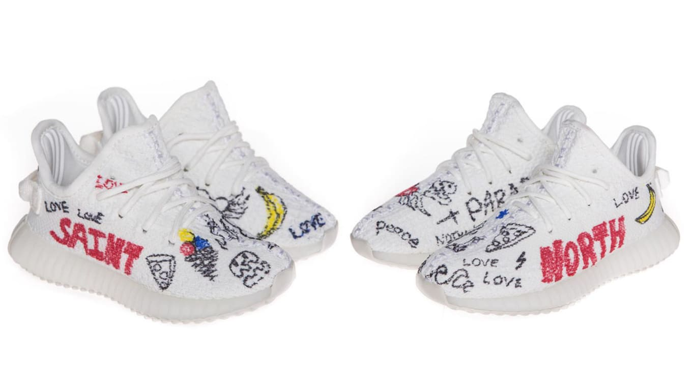 dbcdbe4eb1058 Kids  Yeezys Restock Today. Custom pairs of the  Cream White  colorway are  coming back.