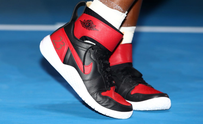 9e867b45fdab3e Serena Williams Air Jordan 1 x Nike Flare Hybrid 23 Grand Slam ...