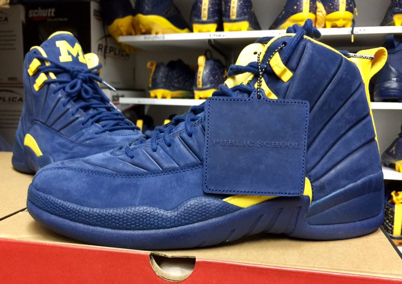 3915e4bc844 PSNY Air Jordan 12 Michigan
