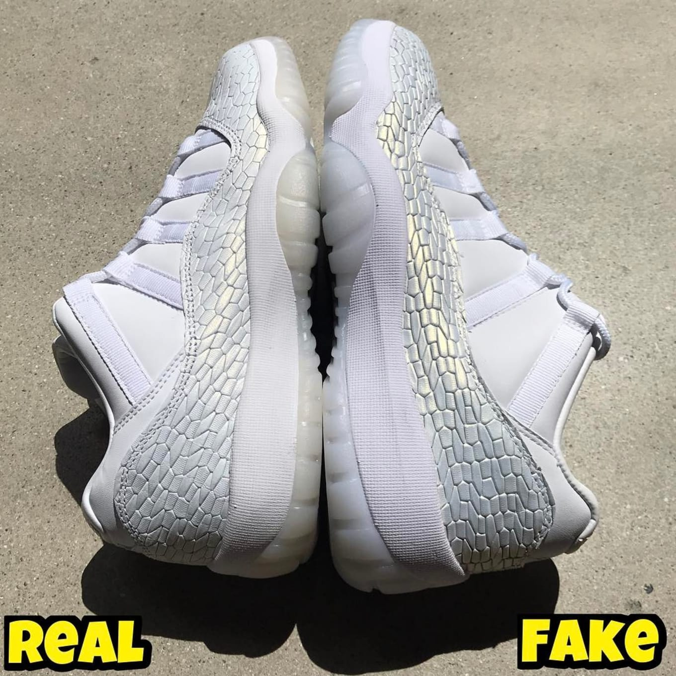 huge discount 72265 536dd Air Jordan 11 Low White Heiress Real Fake Legit Check | Sole ...