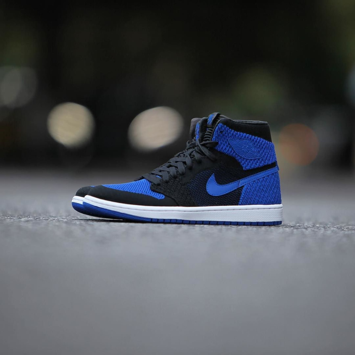 de4e6bab8ed3 A Look at the  Royal  Air Jordan 1 Flyknit From Every Angle