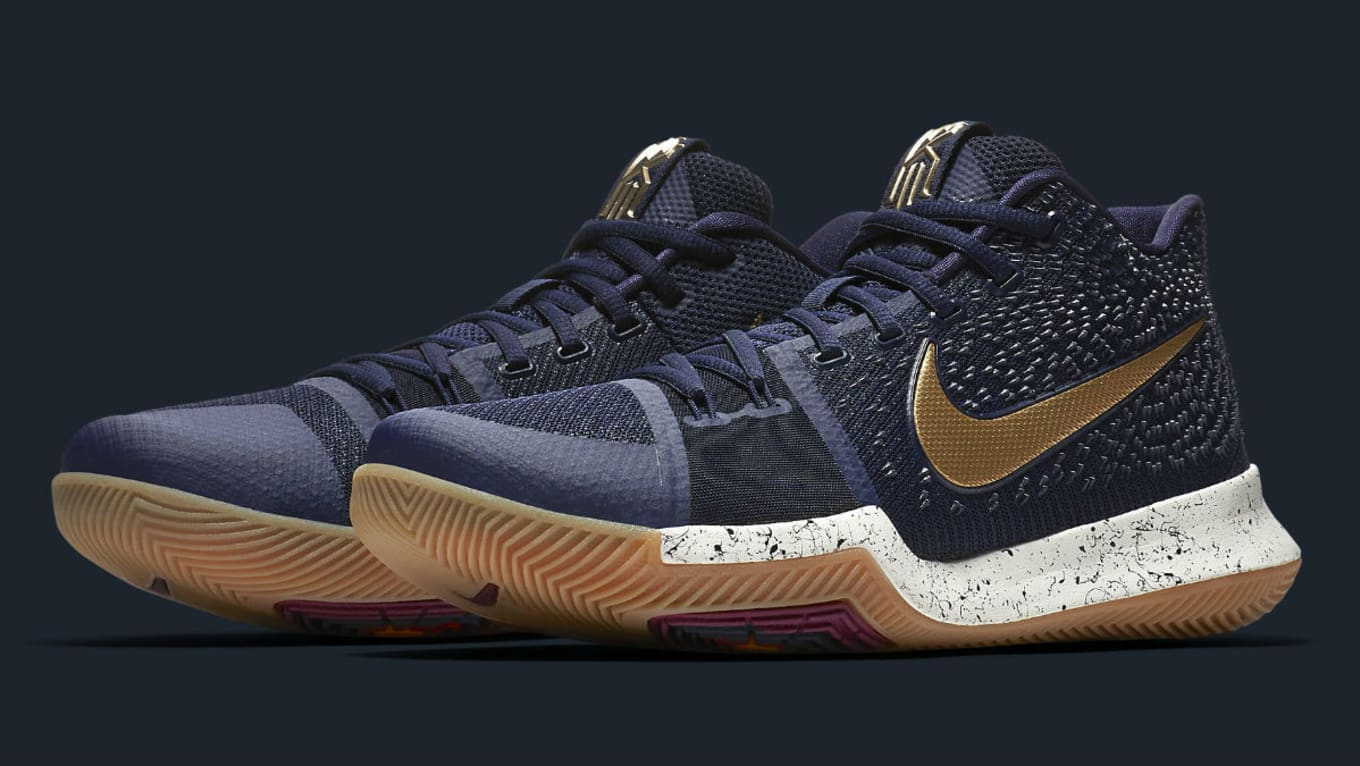 on sale 199c2 51dd8 Nike Kyrie 3 Obsidian Gold Release Date 852396-400   Sole Collector