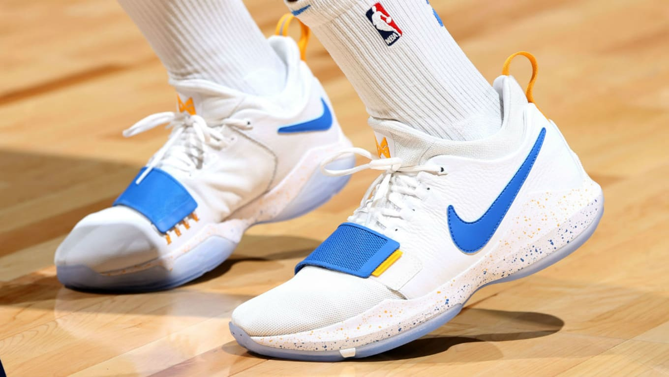 35f6e7794325  SoleWatch  Paul George Wears Nike PG1 PE in Minnesota