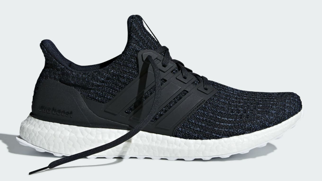 8c5465072f3 Parley x Adidas Ultra Boost Legend Ink Carbon Core Black Release ...