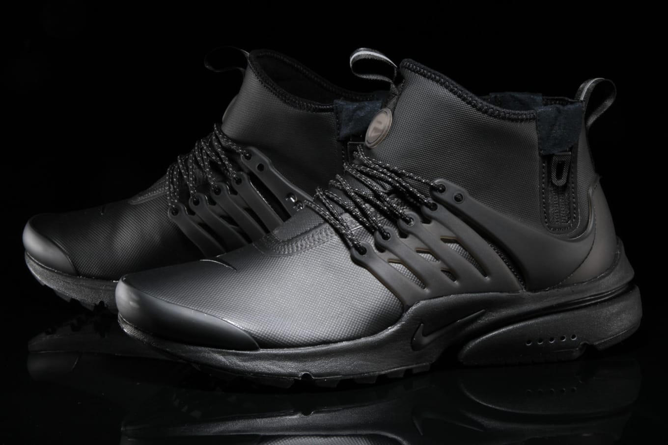 Nike Air Presto Utility Mid Triple Black | Sole Collector