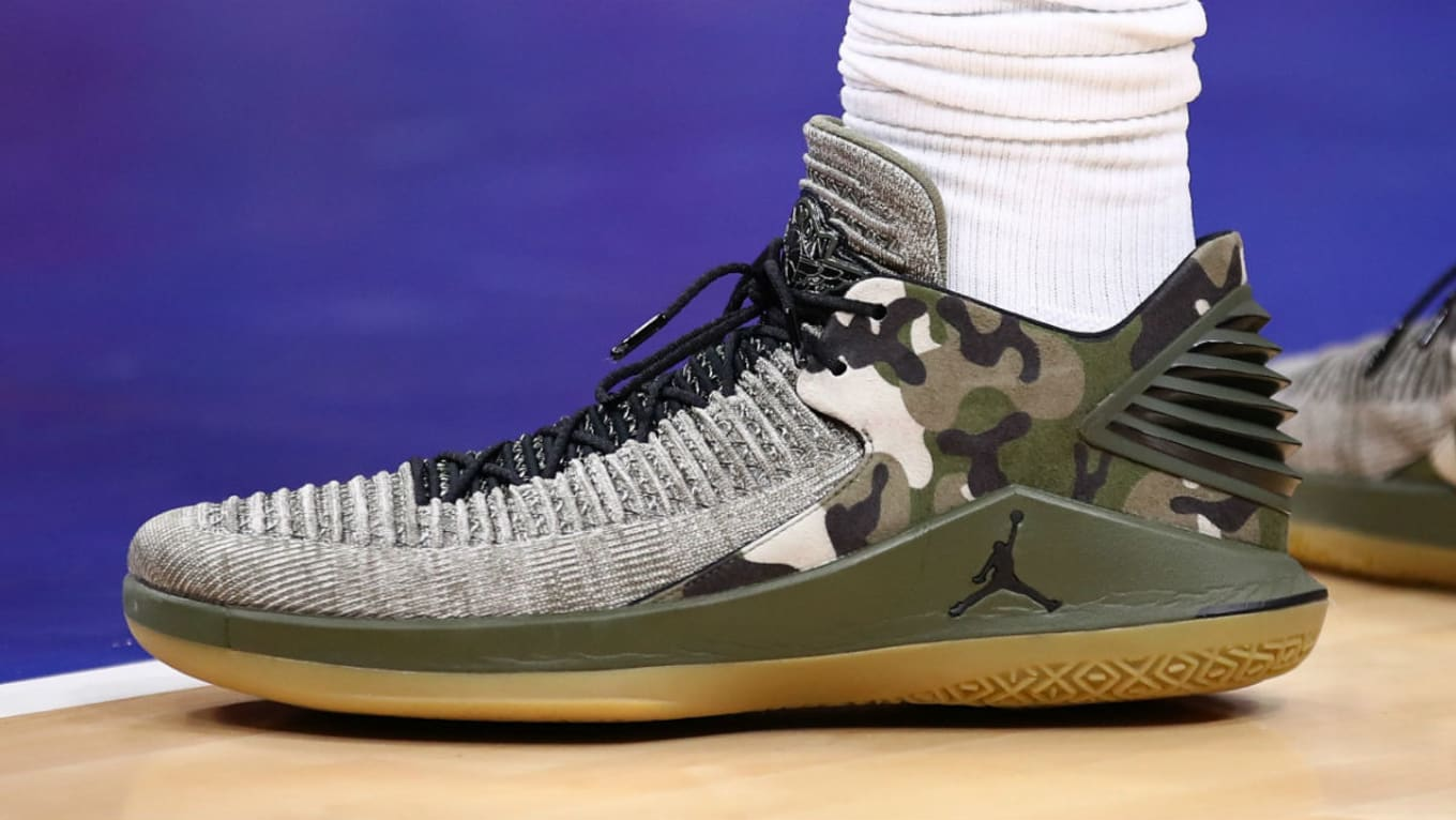 45163b1e0fe Andre Drummond Air Jordan 32 Low Veterans Day PE | Sole Collector