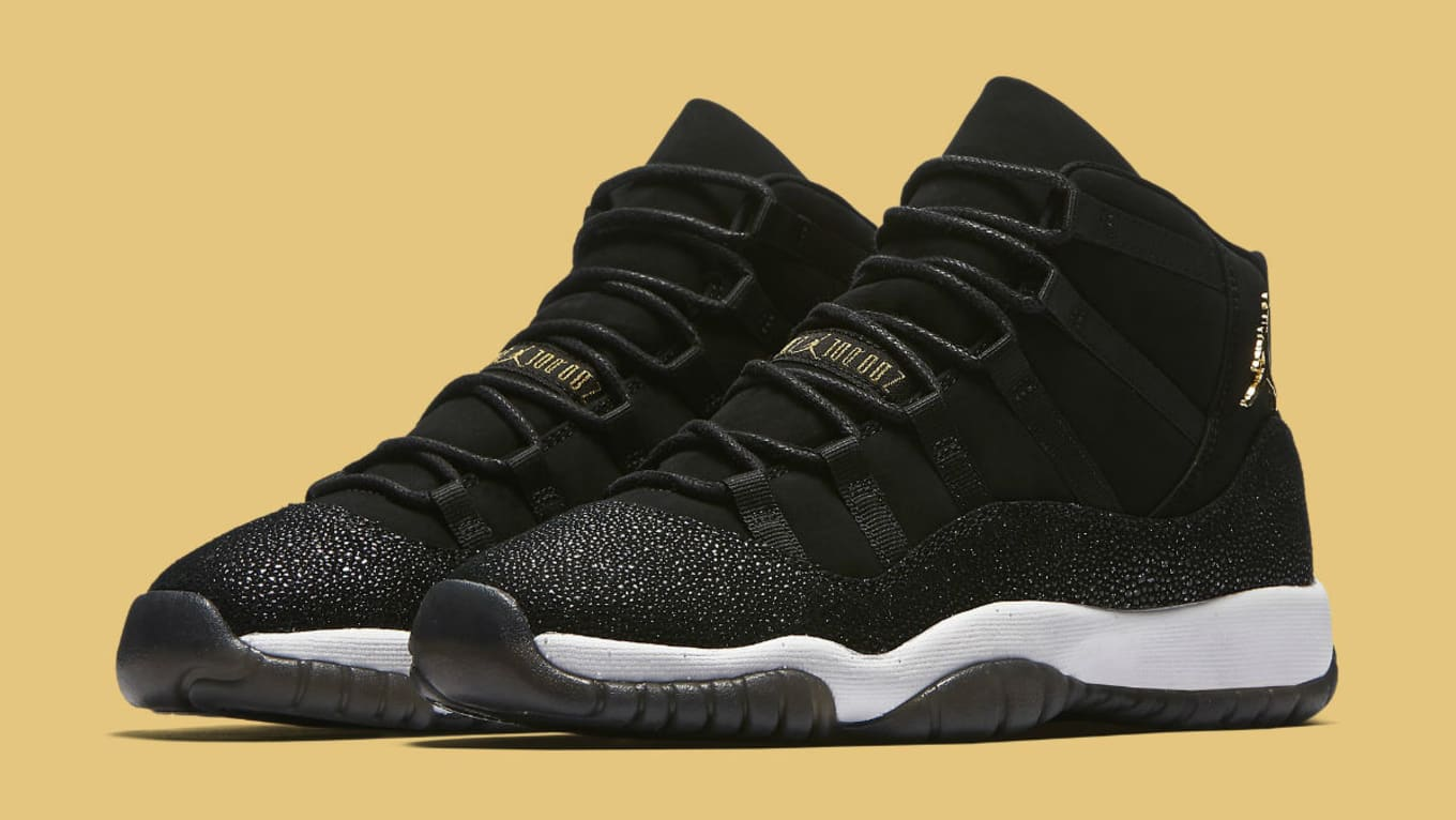 timeless design e59da 33c82 Air Jordan 11 Retro GG Heiress Black/Metallic Gold-White. Images via Nike