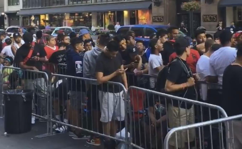 9280a33851eccc Image via Foot Locker. New York City sneakerheads are descending on 34th St  ...