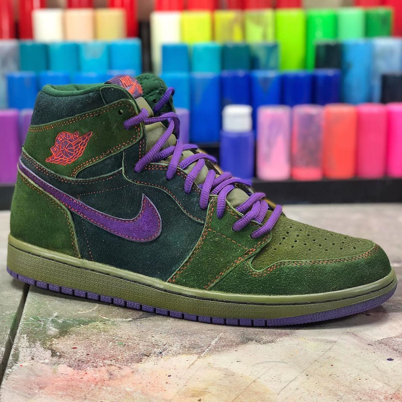outlet store 70cf4 3ffa4 A Customizer Made  Skunk  Air Jordan 1s for 4 20