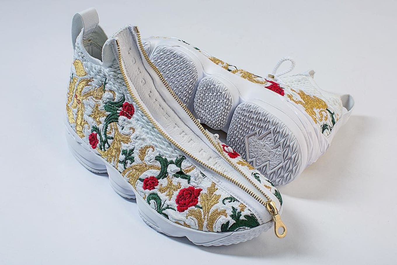 87aabc7d221 Premium details on LeBron s Fashion Week sneakers.