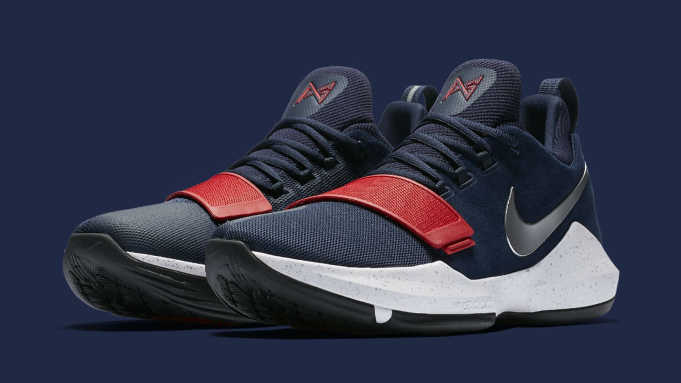 fc9c6ea1b562 Nike PG1 1 Navy Red-White Silver Release Date Main