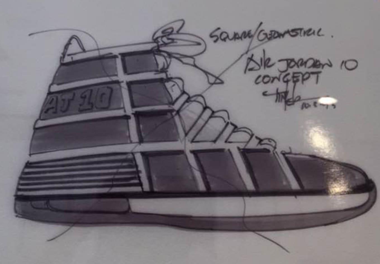 6ea153f40ea09e Air Jordan 10 Design Sketch