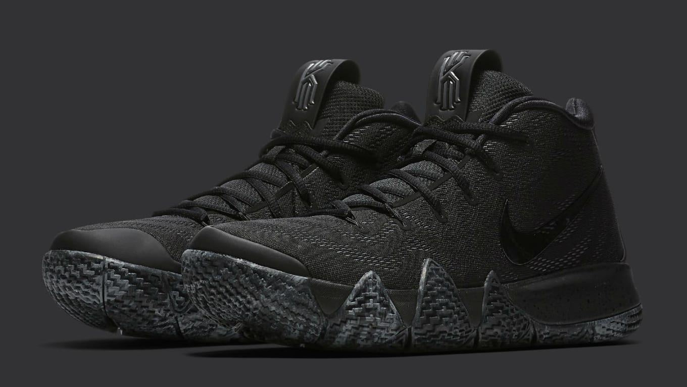 timeless design b20ea f7697  Triple Black  Nike Kyrie 4 Dropping This Week