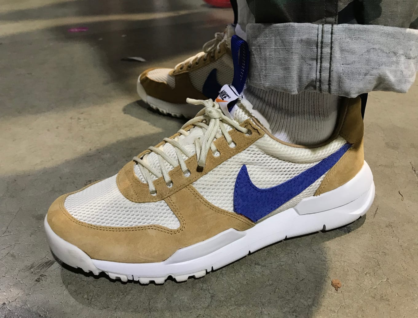 detailed look 6f330 72545 Unreleased Tom Sachs x Nikes Surface. A blue version of the Mars Yard 2.0  spotted on the ComplexCon floor.