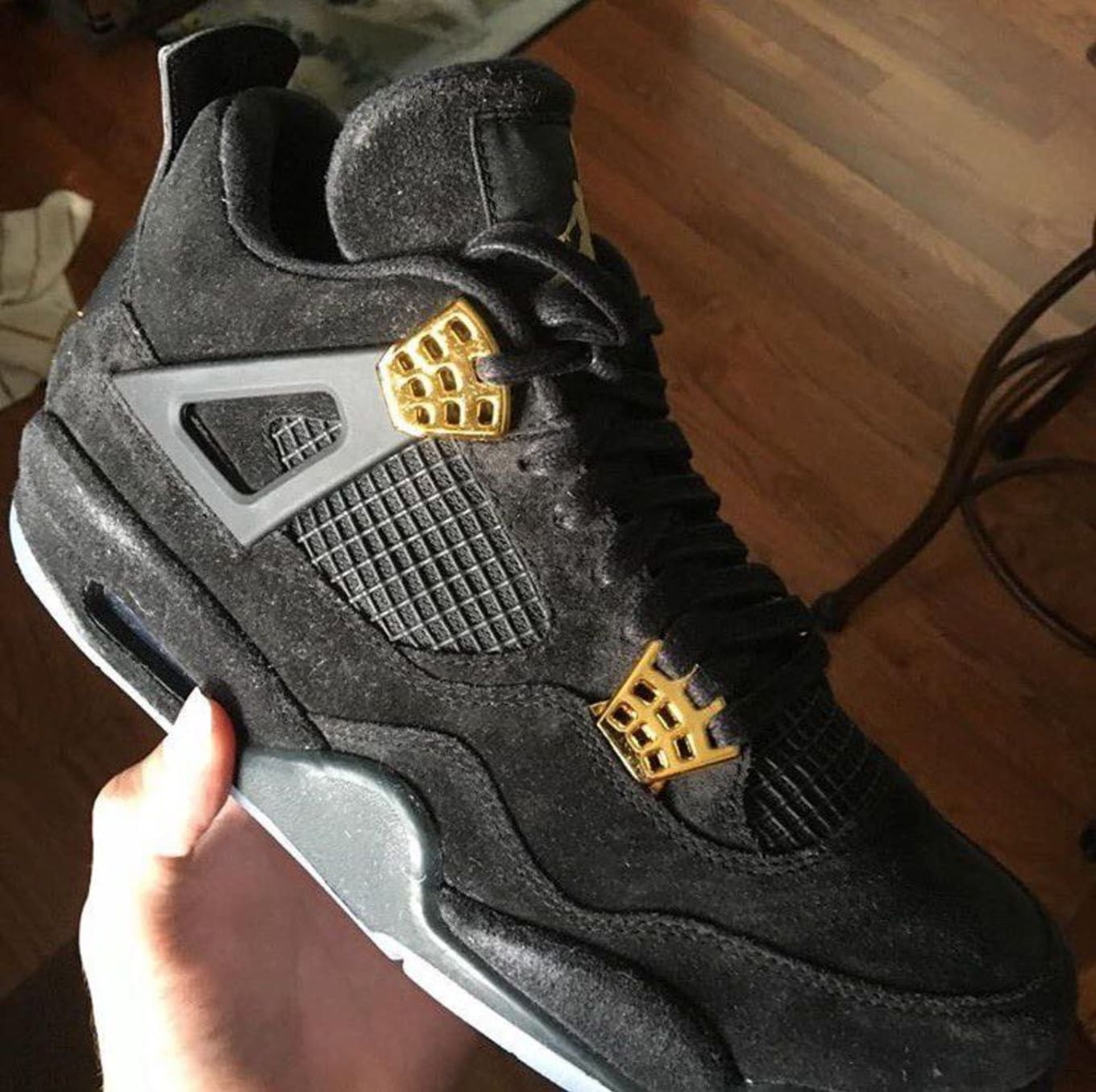 new products dc1bc 44843 Air Jordan 4 Suede Glow Side   Sole Collector