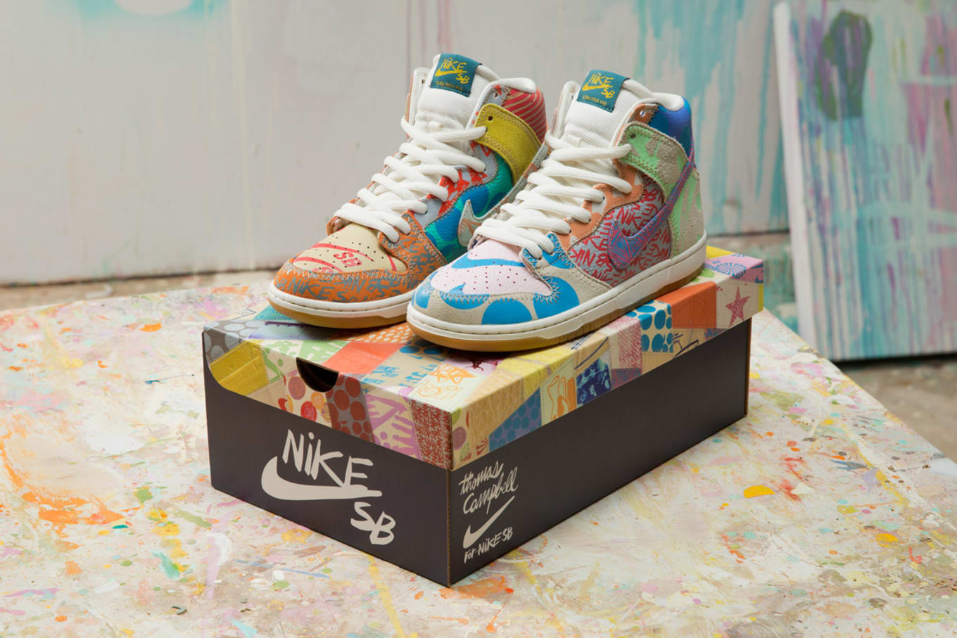 Thomas Campbell x Nike SB Dunk High with Custom Limited Packaging ... 8ba29e478