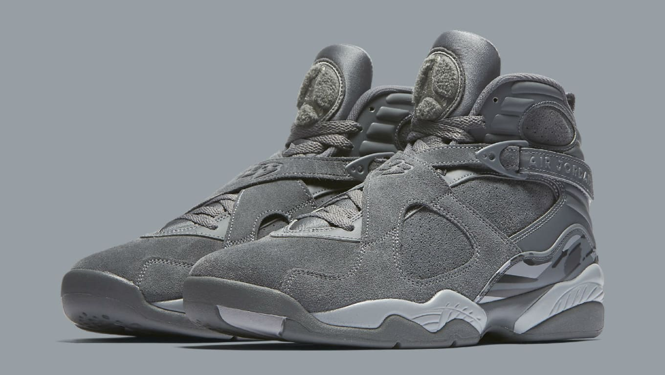 2719a293256f The Air Jordan 8 Is the Latest  Cool Grey  Retro. Release information for  the new colorway.