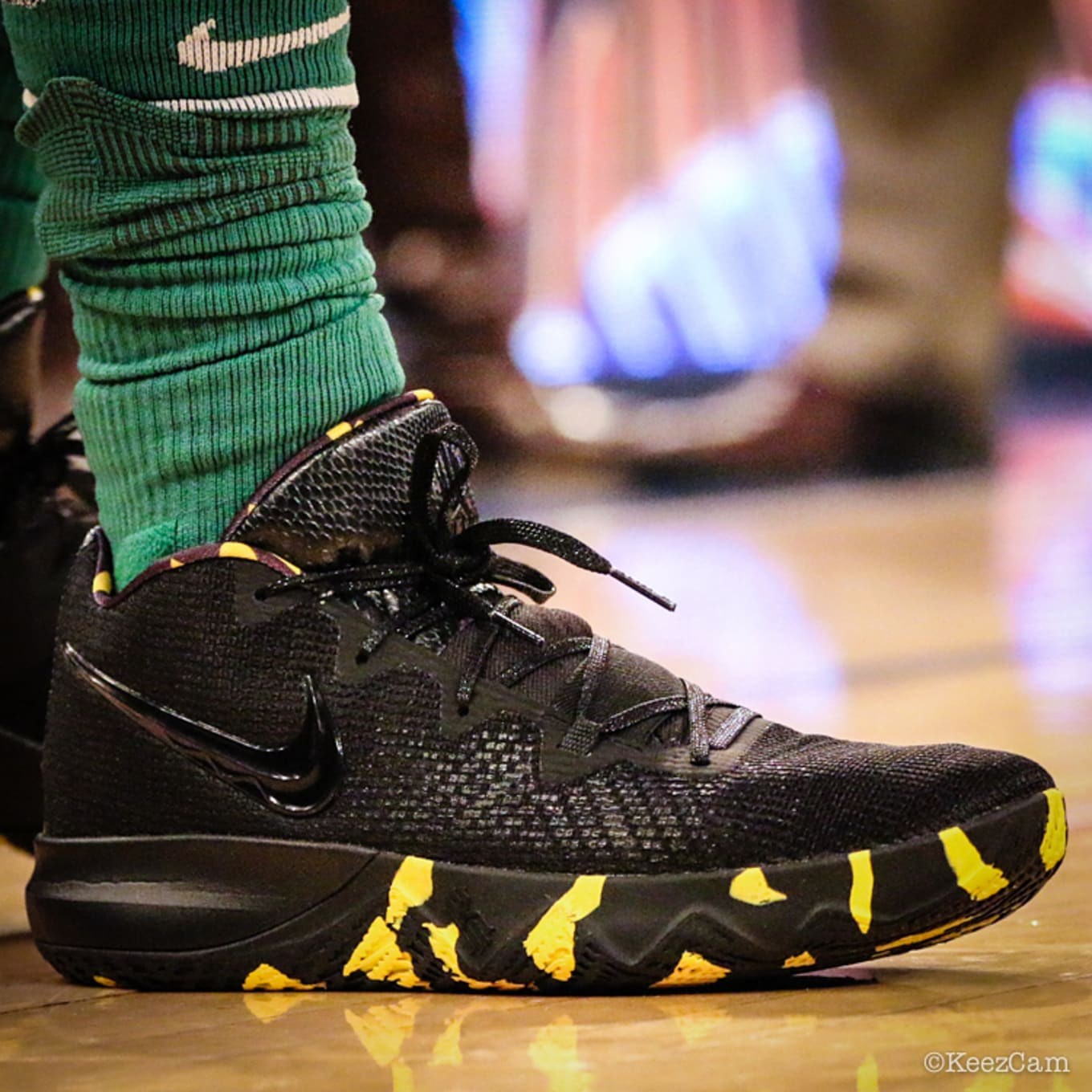 ed532aa9a23a Kyrie Irving Nike Kyrie Budget Core Black Yellow Right Profile ...