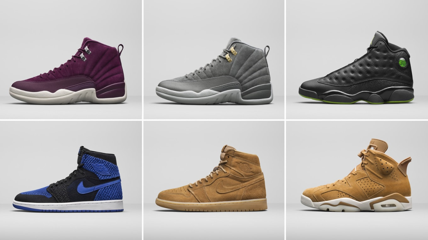 the latest 46992 83038 New Royal Jordan 1s, Wheat colorways, and more.