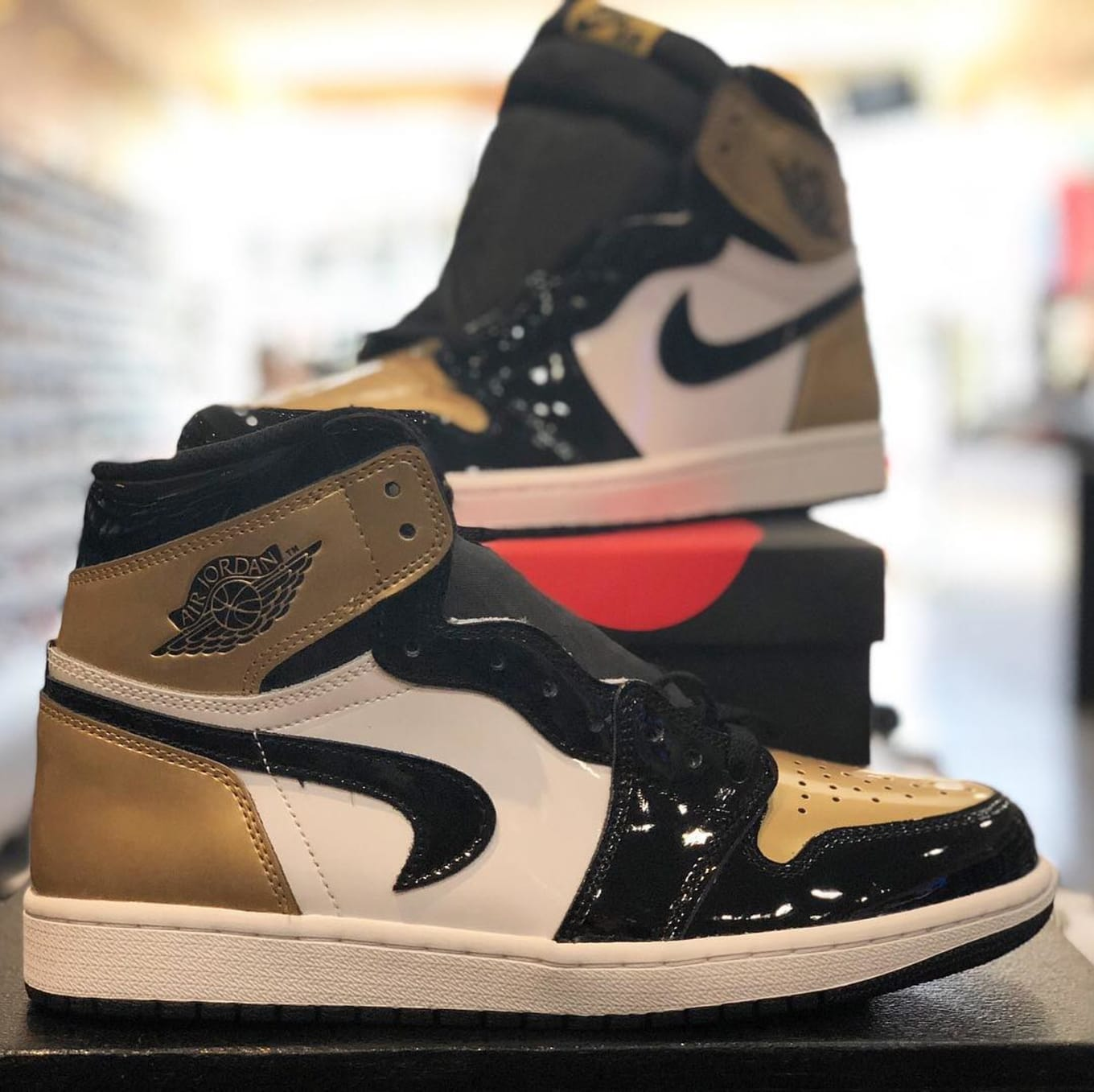 94588793b Air Jordan 1 Gold Toe Upside Down Swoosh Error