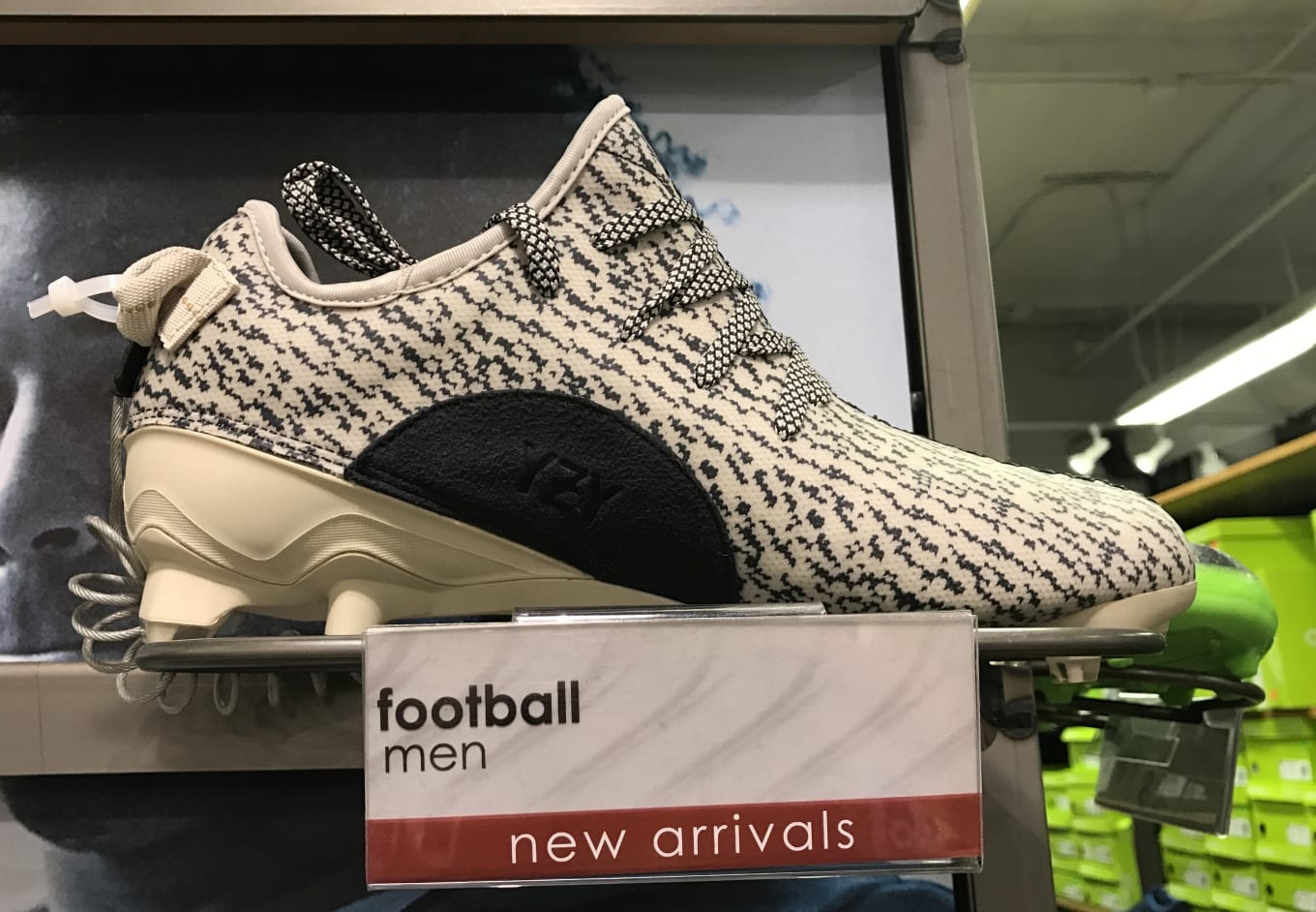 d64aa391c4c Adidas Yeezy Cleats Spotted at Outlet