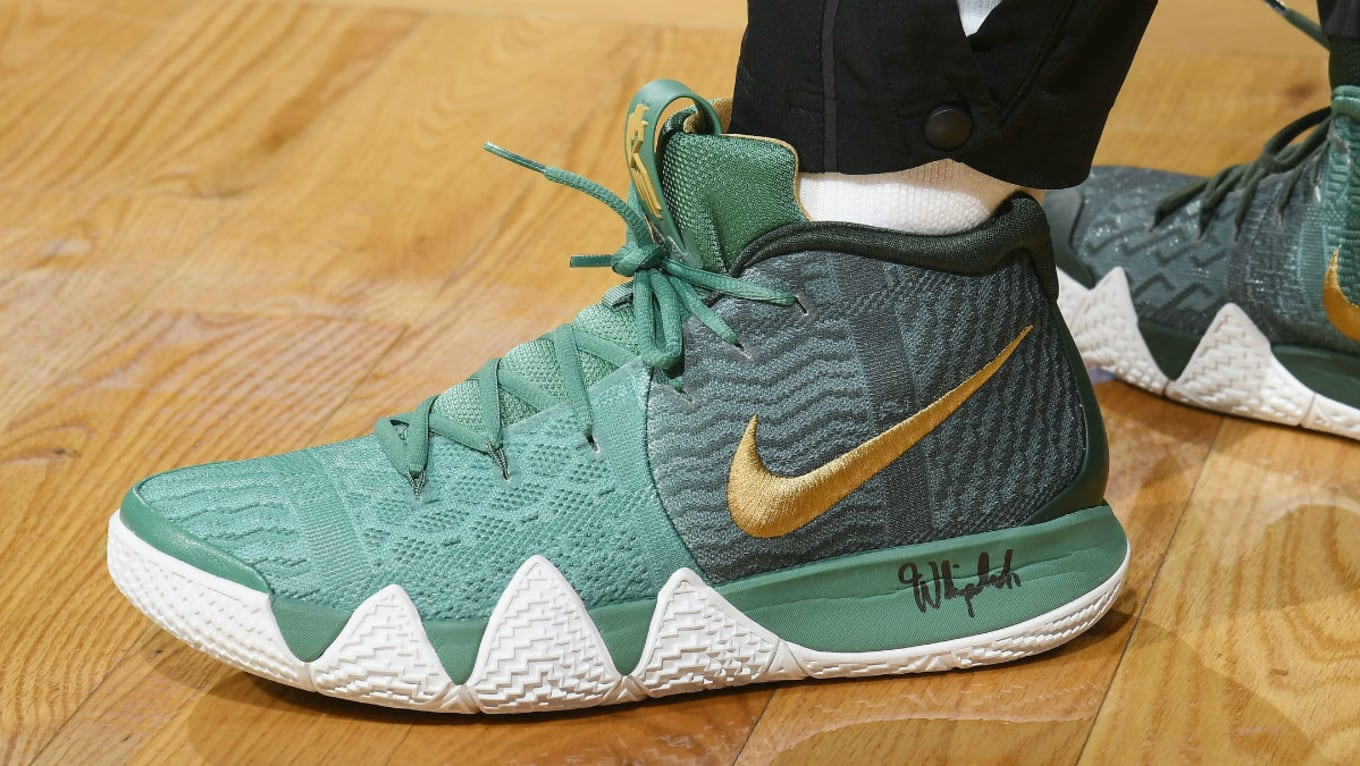 aa7b52ee67ab47 Kyrie Irving Shoes Green And Gold Army Green And Gold