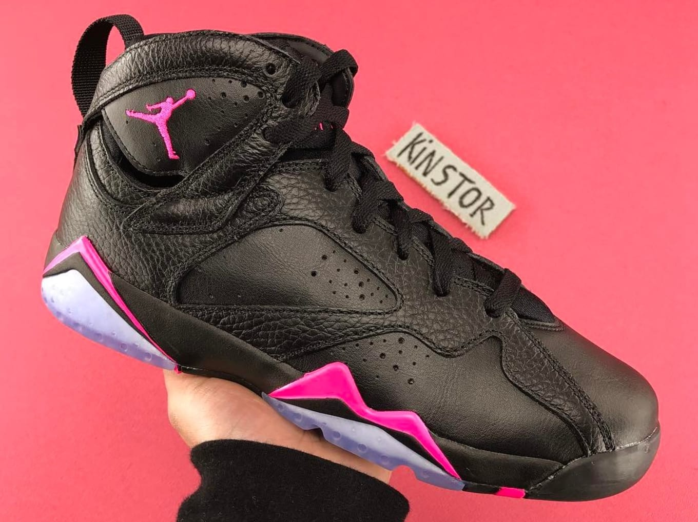 0d04ffcd2ca3d3 The Air Jordan 7 in black and hyper pink will release on April 29.