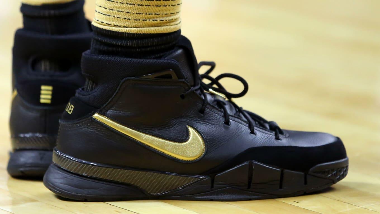 e952669ae55 DeMar DeRozan Nike Zoom Kobe 1 Black Gold
