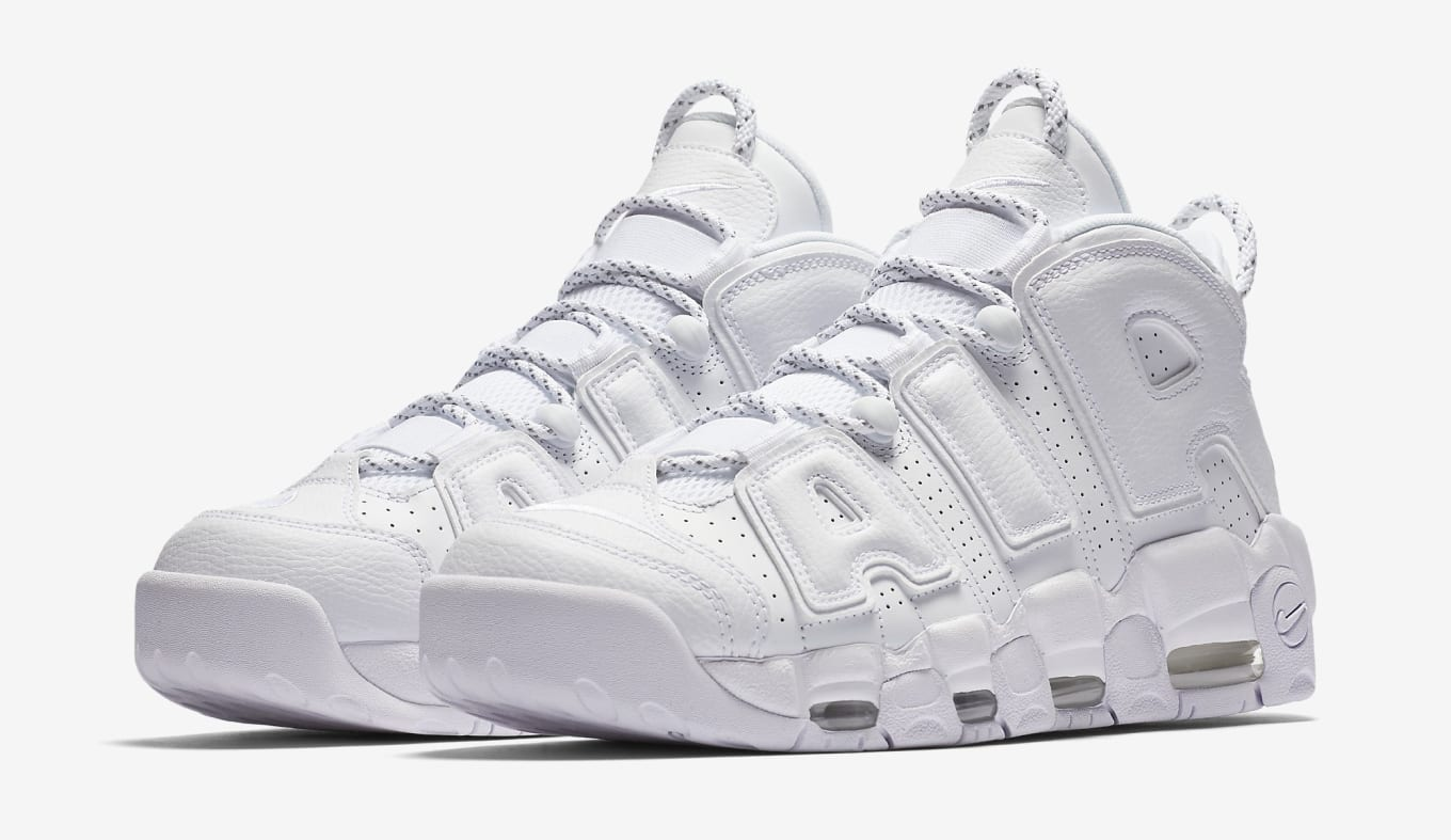067952e7918bd  Triple White  Nike Air More Uptempos Are Coming. Another clean colorway  for the retro Scottie Pippen shoe.
