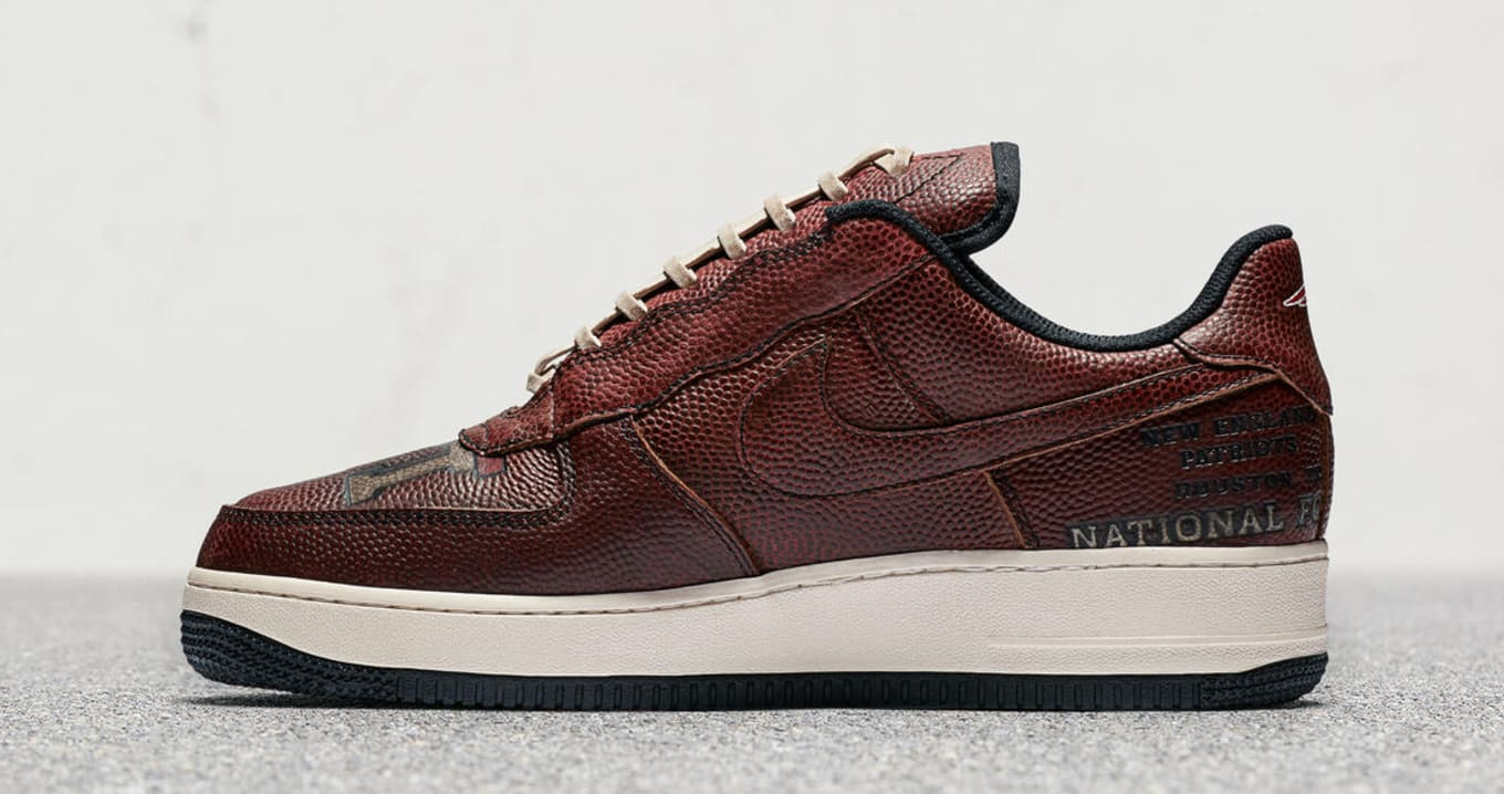 Patriots Nike Air Force 1 Low Football Leather Super Bowl 51 ... 619dcf25b