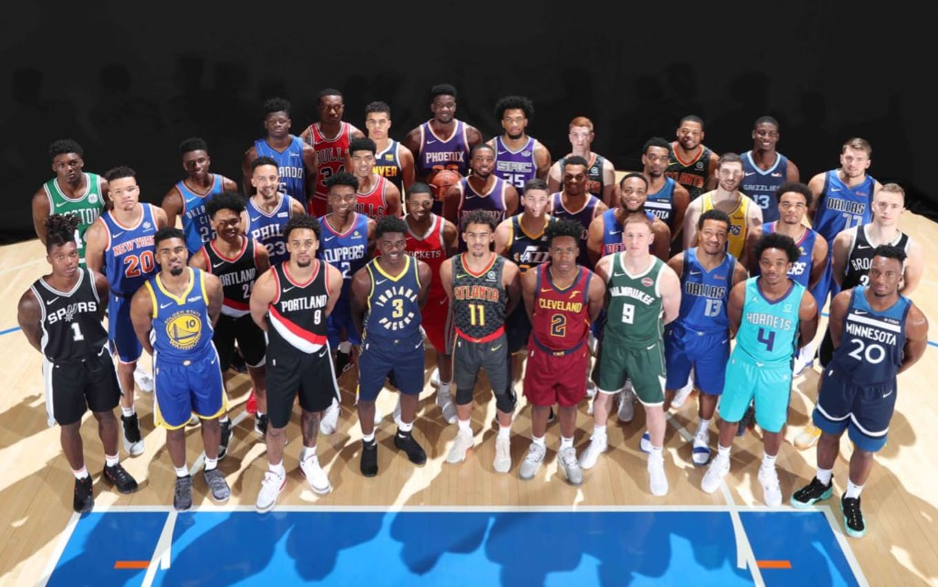 832d5c4f44269 NBA Rookie Photo Shoot Sneakers 2018