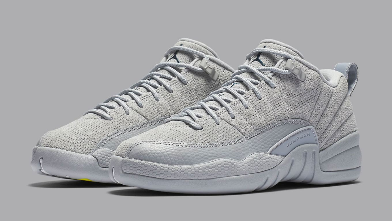 5937c7946a3b6c Air Jordan 12 Low Wolf Grey Armory Navy Release Date 308317-002 ...