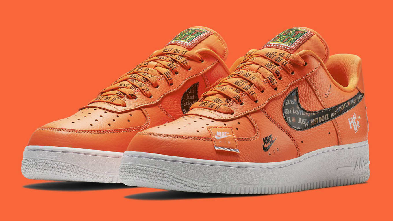 official photos 989a4 fc5a8 Nike Air Force 1 Low Just Do It Orange Release Date AR7719 ...
